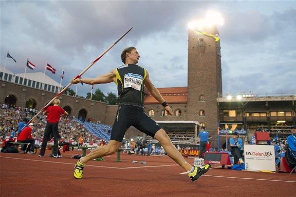Andreas Thorkildsen - world lead in DN Galan (Hasse Sjogren / DECA Text&Bild)