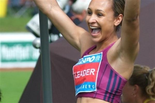 All smiles - Jessica Ennis celebrates her PB in the Shot Put in Gotzis (Lorenzo Sampaolo)