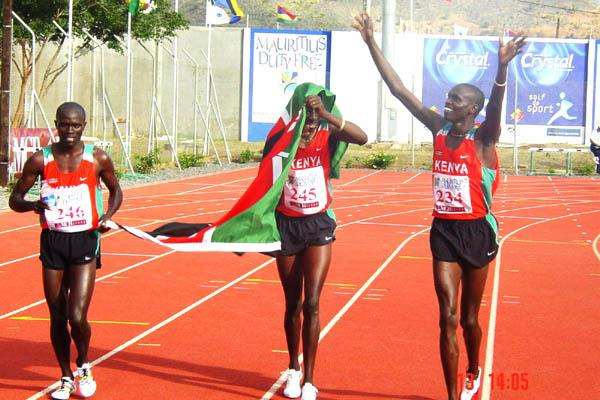 Alex Kipchirchir at the African Champs (Mark Ouma)