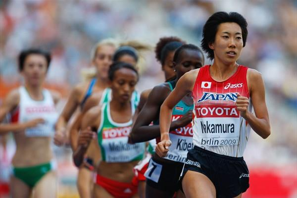 Yurika Nakamura of Japan leads in the women's 5000m heats at the 12th IAAF World Championships in Athletics (Getty Images)