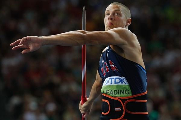 Eventual Decathlon winner Trey Hardee of the United States throws three personal bests in the men's Decathlon Javelin Throw in the Berlin Olympic Stadium (Getty Images)