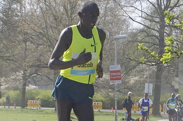 Jacob Cheshari on his way to winning the Hannover Marathon (Organisers)