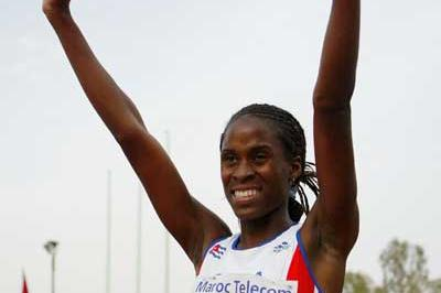 Aymee Martinez of Cuba celebrates in winning the Girls' 200m final at the World Youth Championships (Getty Images)