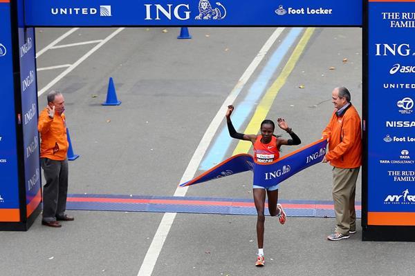 Kenya's Priscah Jeptoo, winner of the 2013 New York City Marathon (Getty Images)