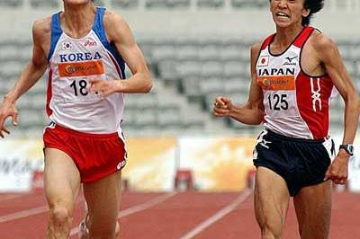 Japan's Yuki Nakamura in the 10,000m in Macau (Peh Siong San)