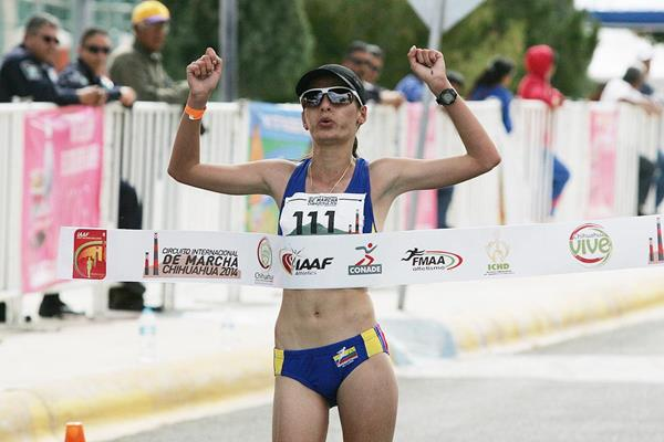 Sandra Arenas, winner of the 20km in Chihuahua (Organisers and Conade / Mexican Sports Institute)