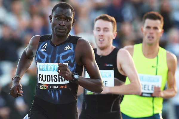 David Rudisha on his way to winning the 800m in Melbourne (Getty Images)