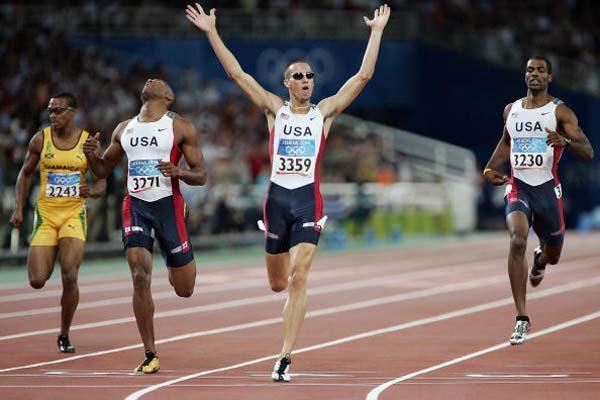 Jeremy Wariner of the US takes the 400m Olympic gold (Getty Images)