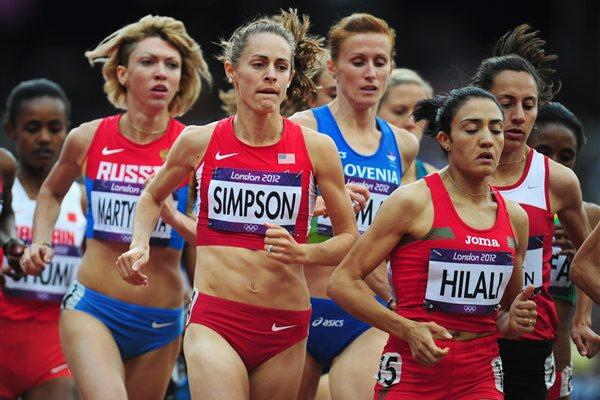 Jennifer Simpson of the United States competes in the Women's 1500m heat on Day 10 of the London 2012 Olympic Games at the Olympic Stadium on August 6, 2012 (Getty Images)