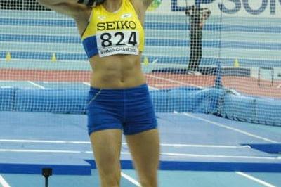 Carolina Kluft (SWE) - Shot put of Pentathlon (Getty Images)