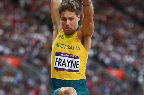 Henry Frayne of Australia competes in the Men's Long Jump qualification on Day 7 of the London 2012 Olympic Games at Olympic Stadium on August 3, 2012 (Getty Images)
