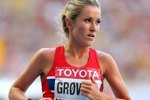 Karoline Bjerkeli Grovdal in the 5000m at the 2013 IAAF World Championships (Getty Images)