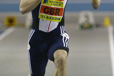 Craig Pickering en route to a 6.57 victory in Glasgow (Getty Images)
