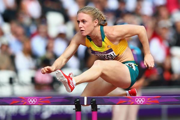 Sally Pearson of Australia competes in the Women's 100m Hurdles heat on Day 10 of the London 2012 Olympic Games at the Olympic Stadium on August 6, 2012 (Getty Images)