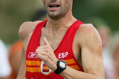Javier Fernandez  en route to his 20Km Race Walk win in Gothenburg (Getty Images)