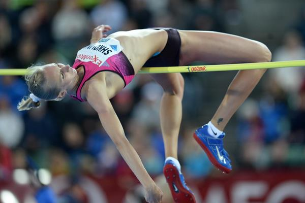 Svetlana Shkolina wins the high jump in Oslo (Jiro Mochizuki)