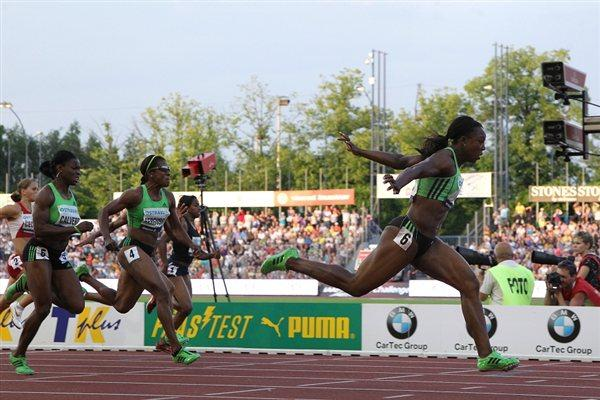 Veronica Campbell-Brown takes a 10.76 win in Ostrava (graf.cz)