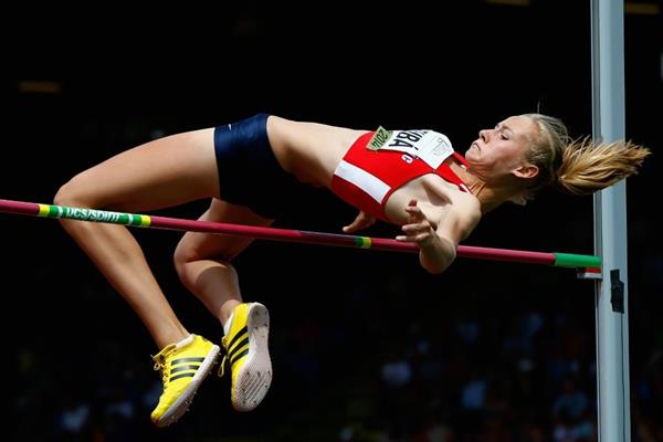 High jump silver medallist Michaela Hruba at the IAAF World Junior Championships, Oregon 2014 (Getty Images)