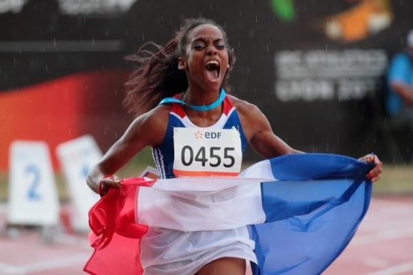 Home favourite Francois-Elie gets the cheers at the IPC Athletics World Championships   (IPC Athletics World Championships Lyon 2013)