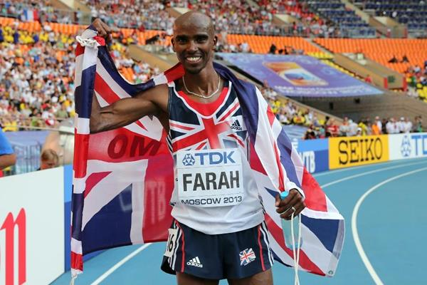 Mo Farah 10 000m final at the IAAF World Athletics Championships Moscow 2013 (Getty Images)