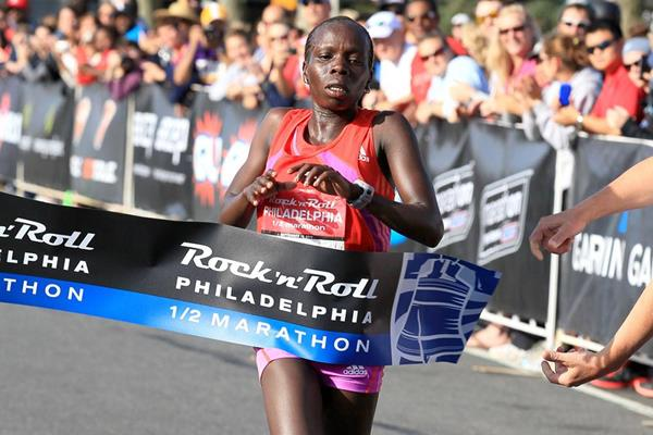 Sharon Cherop, Philadelphia Half Marathon winner (Victah Sailer)