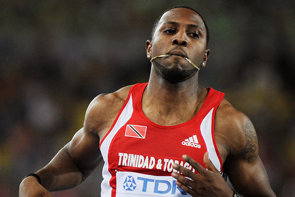 Richard Thompson of Trinidad and Tobago in action in the men's 100m at the 2011 IAAF World Championships (Getty Images)