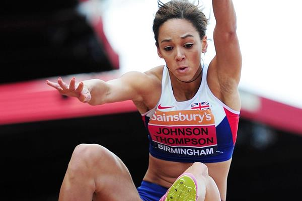 Katarina Johnson-Thompson leaps 6.81m to win the British long jump title (Getty Images)
