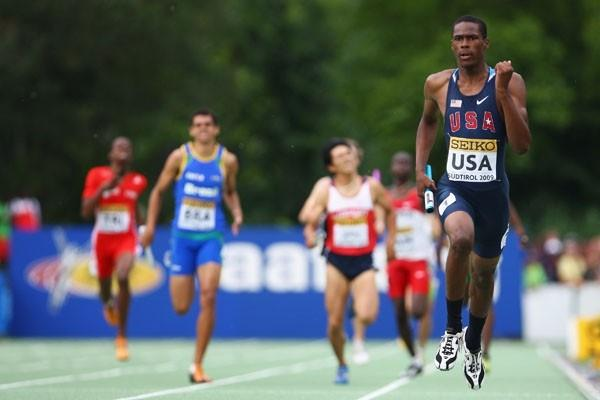 Joshua Mance of USA on his way to gold in the Boys' Medley Relay final (Getty Images)
