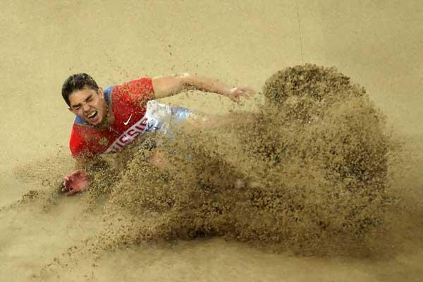 Russian long jumper Aleksandr Menkow (Getty images)