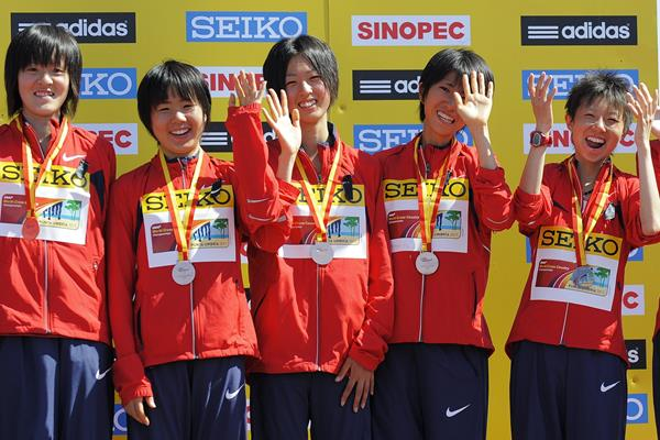 Japan's junior bronze medal women's team in Punta Umbria (Getty Images)