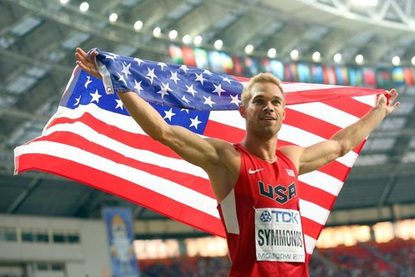 Nick Symmonds in the mens 800m Final at the IAAF World Athletics Championships Moscow 2013 (Getty Images)