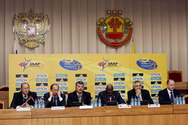 IAAF Press Conference in Cheboksary (Getty Images)
