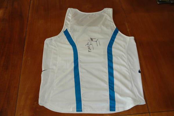 Ladji Doucouré's 2005 WAF vest (IAAF)