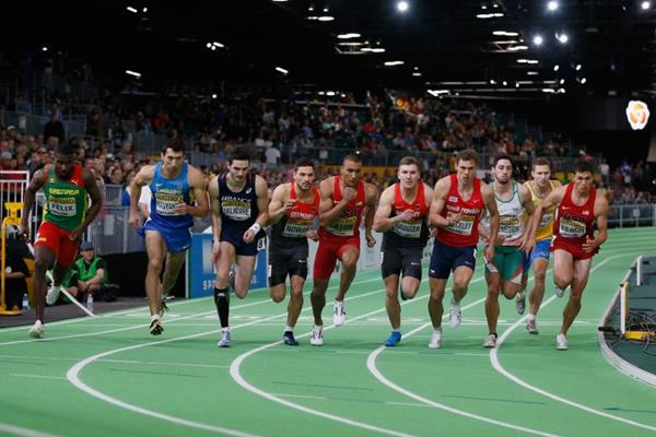 The start of the heptathlon 1000m at the IAAF World Indoor Championships Portland 2016 (Getty Images)