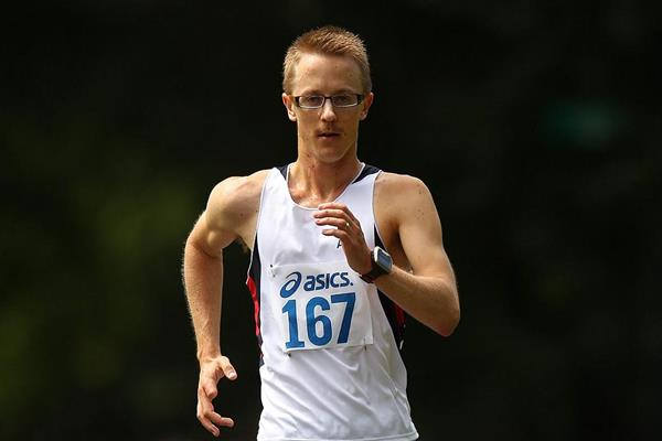 Jared Tallent en route to the Australian 50Km Race Walk title (Getty Images)