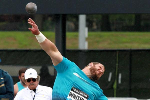 Ryan Whiting wins the Shot Put at the 2013 IAAF Diamond League in New York (Victah Sailer)
