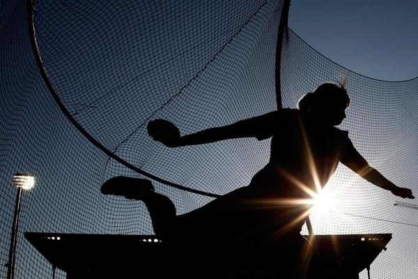 The women's discus at Hayward Field in Eugene (Getty Images)