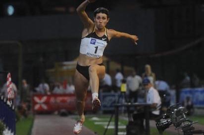 Tatyana Lebedeva triple jumping in Rovereto (Mosna Daniele)