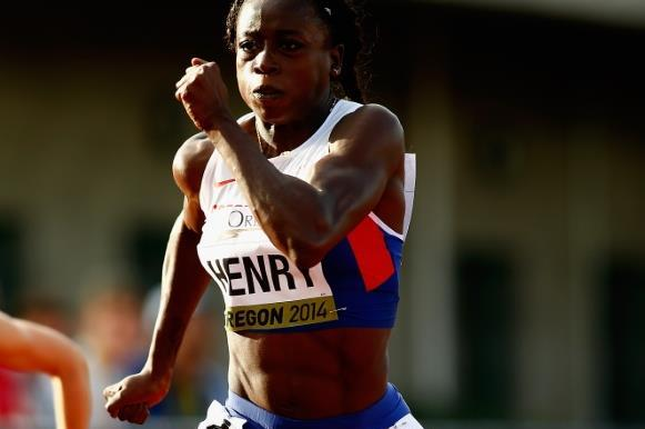 Desiree Henry in the 100m at the 2014 IAAF World Junior Championships in Eugene (Getty Images)