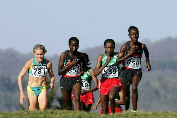 (left to right) Johnson, Timbilili, Dibaba, Ochichi (Getty Images)