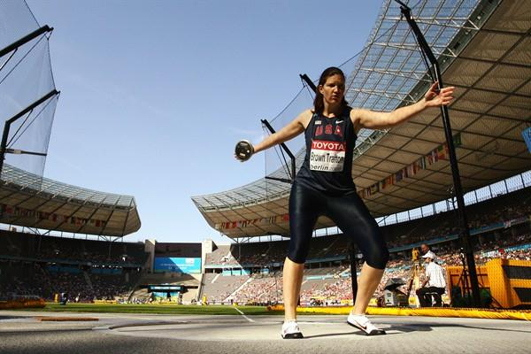 Olympic Champion Stephanie Brown Trafton of the United States just makes it into the final of the Discus Throw (Getty Images)