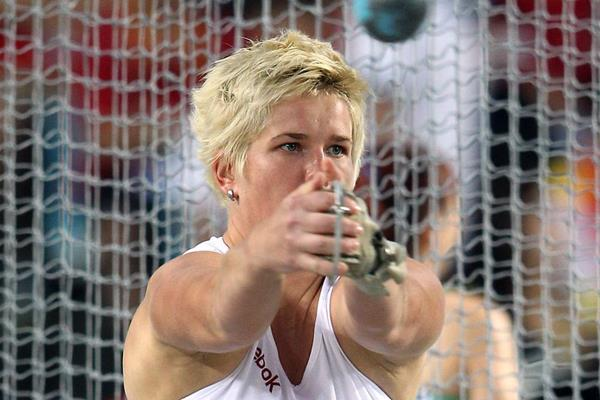 Poland's Anita Wlodarczyk in the Hammer at the 2011 World Championships (Getty Images)