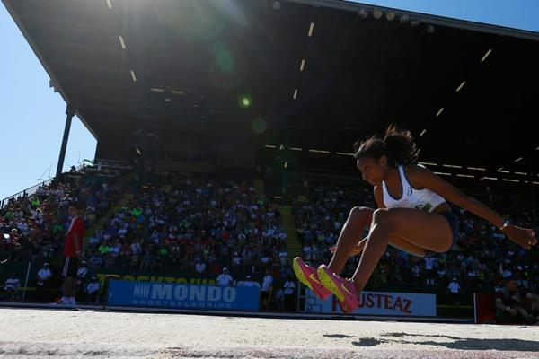 Rouguy Diallo in the triple jump at the IAAF World Junior Championships, Oregon 2014 (Getty Images)
