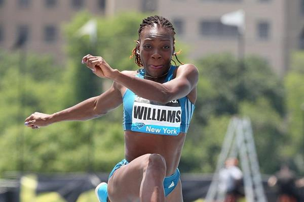 Kimberly Williams at the 2014 IAAF Diamond League meeting in New York (Victah Sailer)