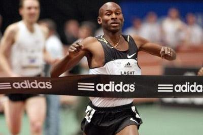 Another Millrose Games victory for Bernard Lagat (Victah Sailer)