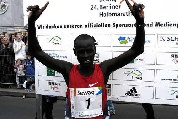 Kirui the winner of the 2004 Berlin Half Marathon (SCC)