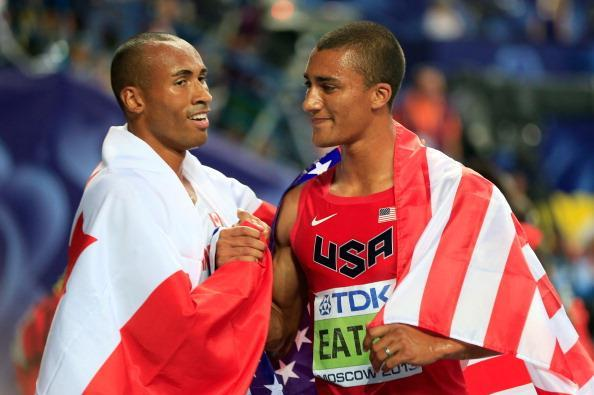 Damian Warner and Ashton Eaton ()
