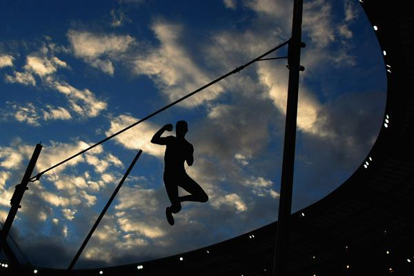 Jerome Clavier clears 5.60m to finish third in Paris (Getty Images)