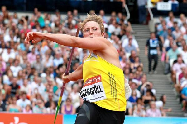 Christina Obergfoll at the 2013 IAAF Diamond League meeting in London  (Victah Sailer)