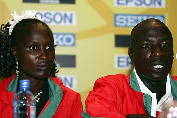 Pamela Chepchumba at the IAAF Press Conference (Getty Images)